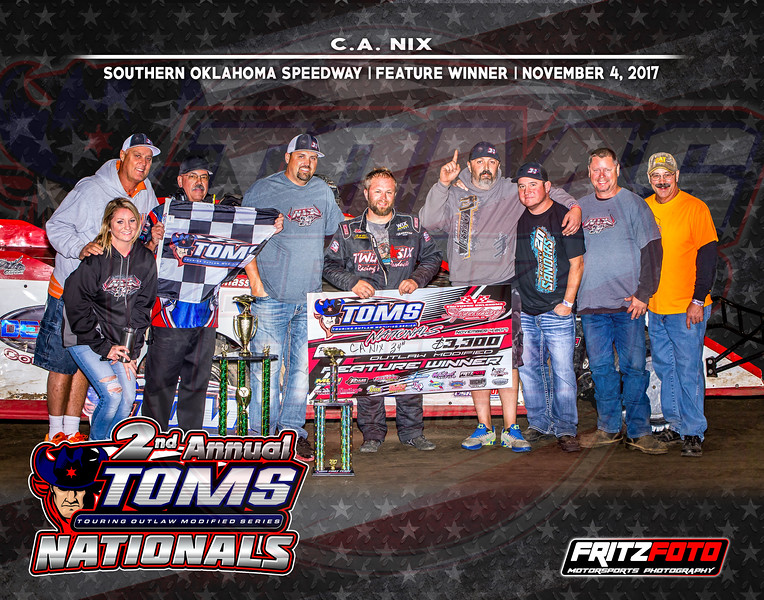 Southern Oklahoma Speedway, TOMS Nationals, Night 2, 11-4-17