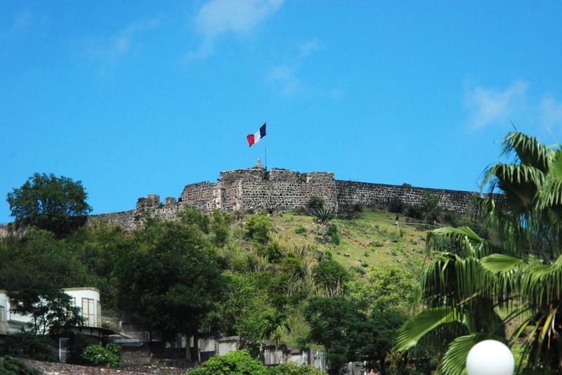 Blackbeard's castle on the French side of St. Maarten