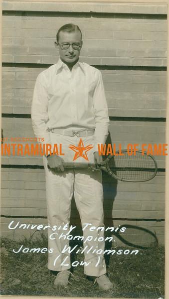 TENNIS University Champion  Law  James Williamson
