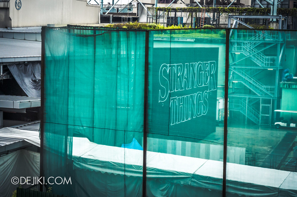 Universal Studios Singapore Halloween Horror Nights 8 Before Dark update - STRANGER THINGS giant marquee