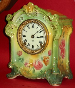 "Ansonia ""La Sedan"" China Cased Mantel Clock"