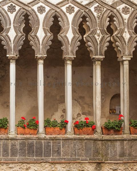 Pillars and Flowerpots , Ravello , Amalfi Coast