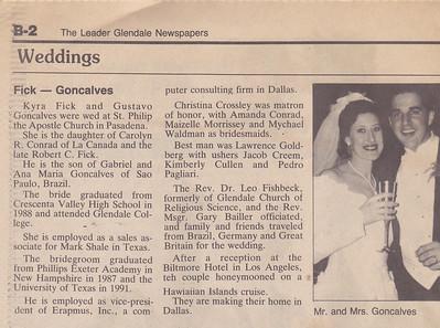 Gus and Kyra Wedding (1995)