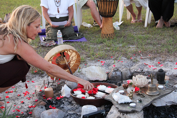 New Moon Ceremony,  New Beginnings Oneness Center, 52413