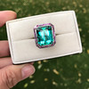 11.77ct Tourmaline Halo Ring by Leon Mege, AGL Cert 42