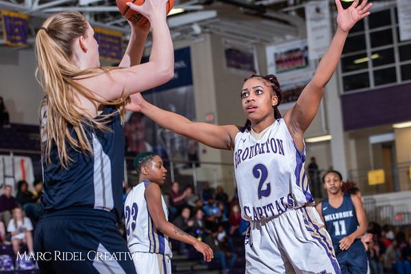 Broughton girls varsity basketball vs Millbrook. February 15, 2019. 750_7364