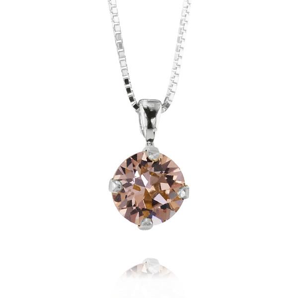 Petite Stud Necklace / Vintage Rose Rhodium