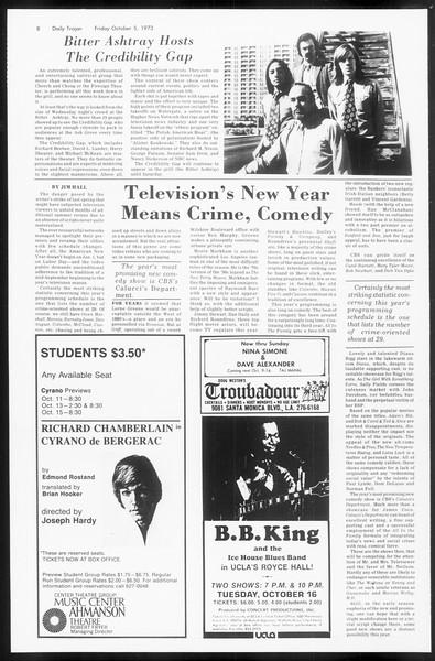 Daily Trojan, Vol. 66, No. 15, October 05, 1973