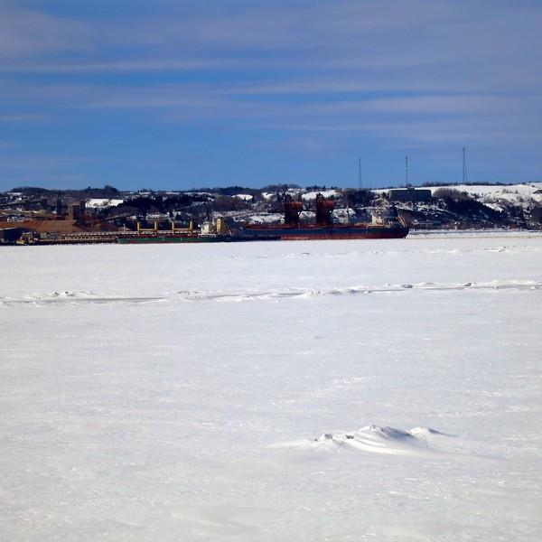 Boat on Ice; Fjord du Saguenay