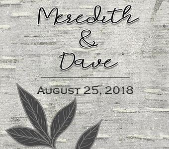 25-08-2018 ~ Meredith and David Wedding