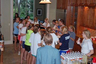 Team dinner at the Burners'