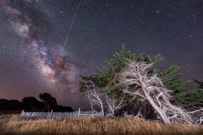 Shooting Star & Milky Way, Sea Ranch, California