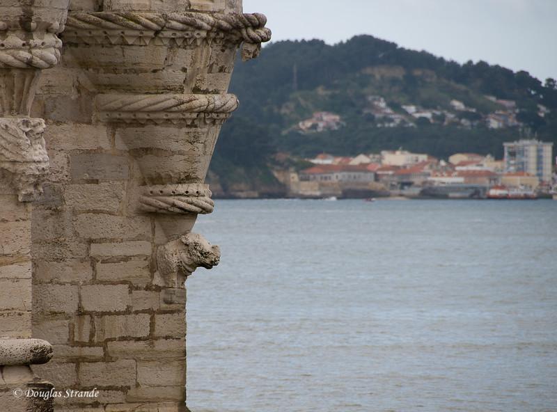 Thur 3/17 in Lisbon: Rhino figure on the Belem Tower