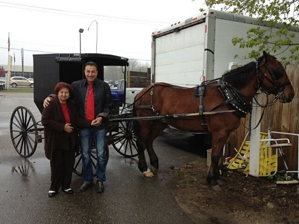 Fred and His Mom on a Visit to our Gladwin, MI Store.