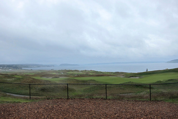Running at Chambers Bay Golf Course