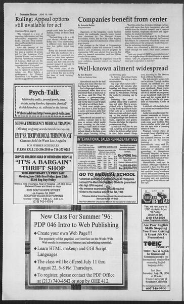Summer Trojan, Vol. 128, No. 6, June 19, 1996
