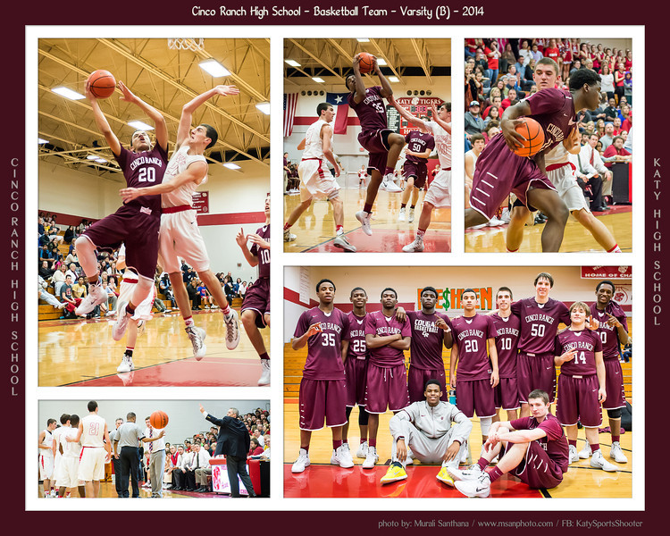 01-31-2014 - Basketball (B) - Katy High School VS Cinco Ranch High School