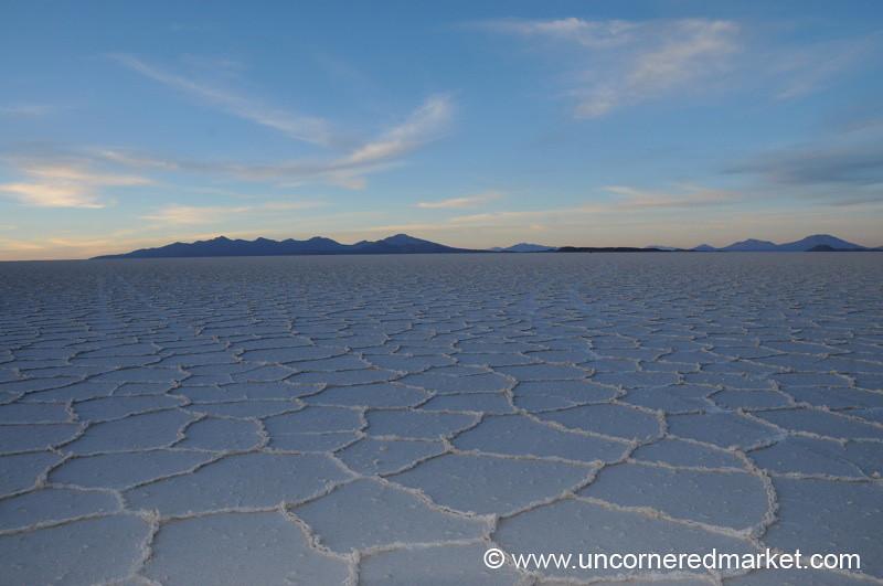 Sunrise Desert Pattern - Salar de Uyuni, Bolivia