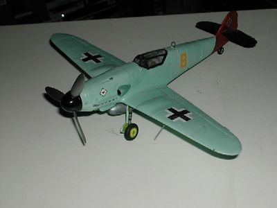 """Me 109 Monogram 48th scale """"Hot Rod"""" colors (LW)"""