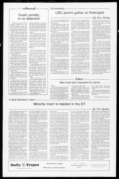 Daily Trojan, Vol. 65, No. 25, October 25, 1972