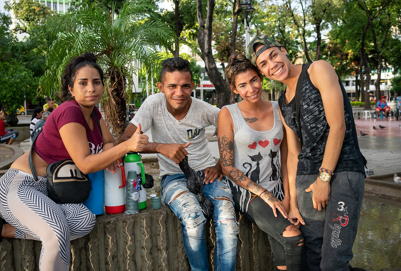 Venezuelan refugees and friends in Cucuta