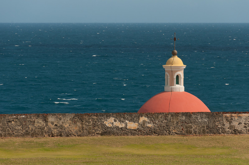 Dome of the Chapel at the Old Cemetery - San Juan, Puerto Rico.