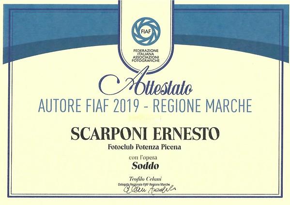 FIAF Autore Marchigiano 2019