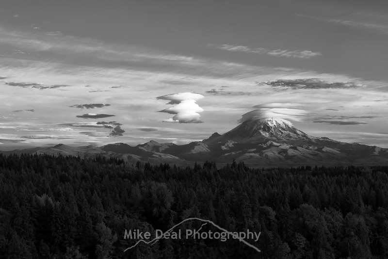 IR Rainier at Sunset