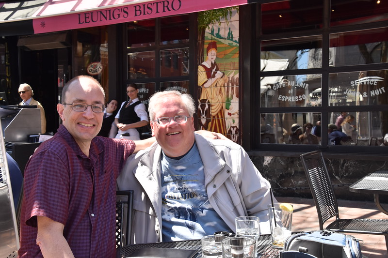 Lunch with my college roommate Chris Elberfeld.