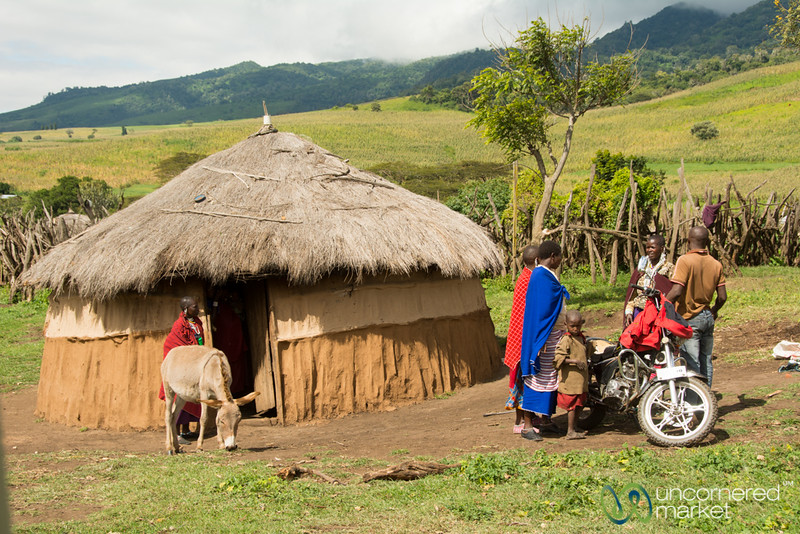 Maasai Village Scene - Northern Tanzania