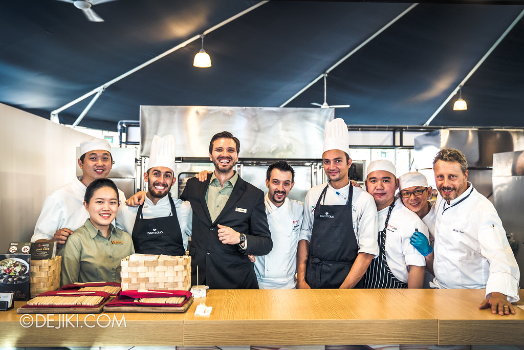 The Great Food Festival RWS - Celebrity Chef Area / Culinary team from Fratelli – Trattoria Pizzeria