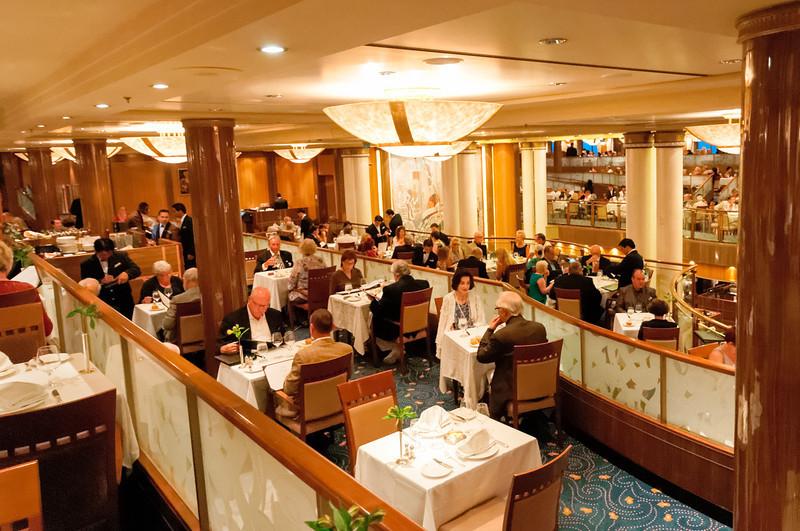Hier werden wir in den nächsten Tagen speisen. Wirklich ein toller Saal!