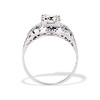 1.00ct Round Brilliant Diamond Filigree Solitaire 4