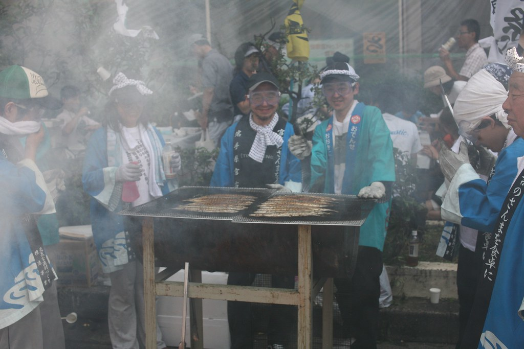 At the Sanma Festival