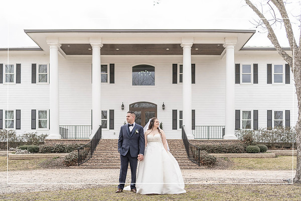 Purple Winter Wedding at the Estates at Pecan Park in Tomball Texas