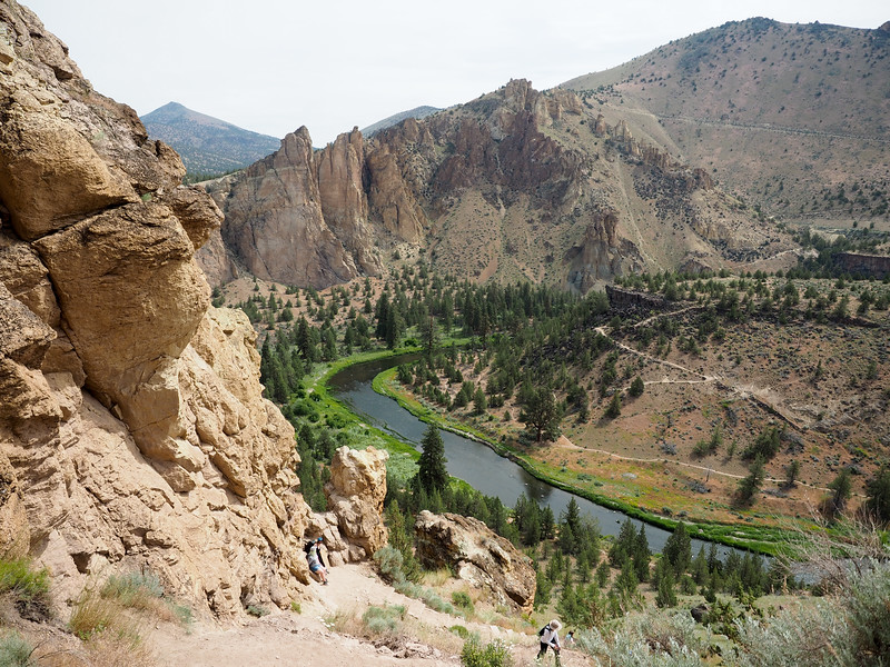 Misery Ridge trail at Smith Rock State Park in Oregon