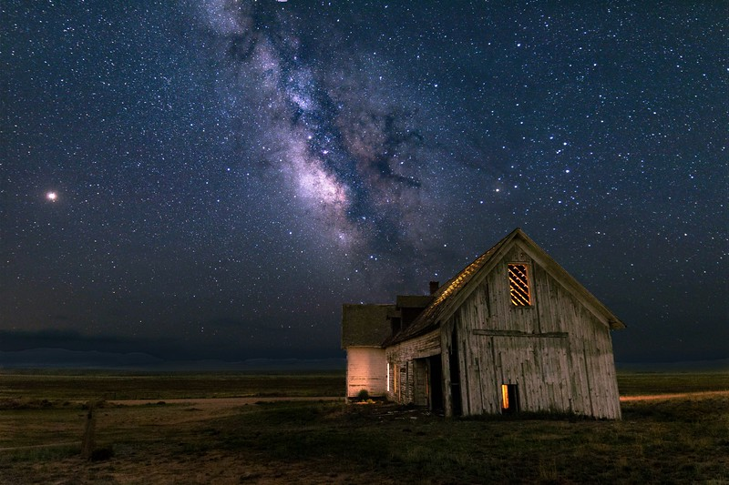 Harrington Homestead with Milky Way