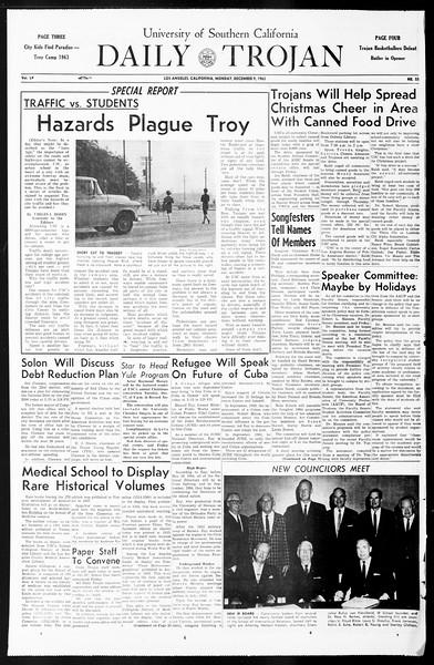Daily Trojan, Vol. 55, No. 51, December 09, 1963