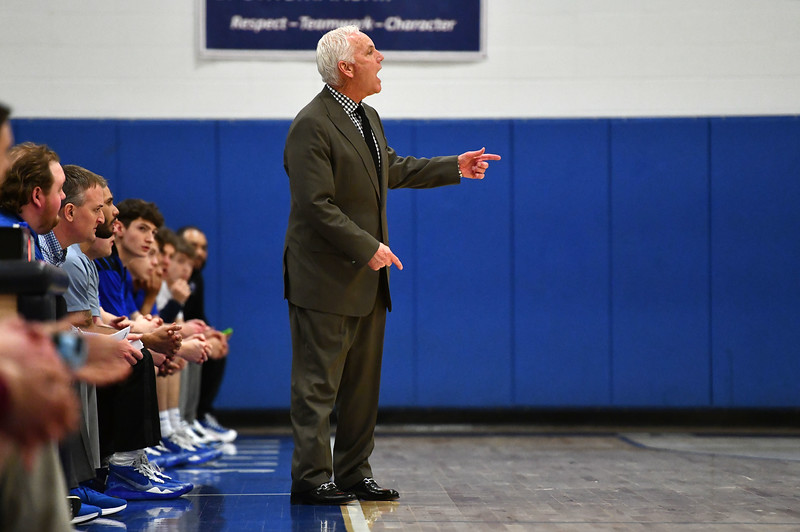 2/4/2020 Mike Orazzi | Staff St. Paul's Steve Phelps during Tuesday night's boys basketball game with Torrington in Bristol.