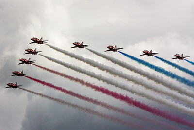 The Royal Air Force Aerobatic Team, the Red Arrows