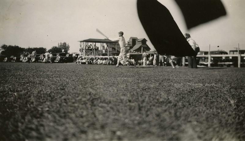 JB295.  Arthur baseball – Ross gets a single – 1936.jpg