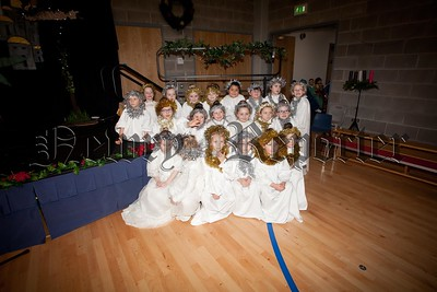 A Group of Angels who took part in the School Nativity at St Joseph's PS Edward street. R1551022