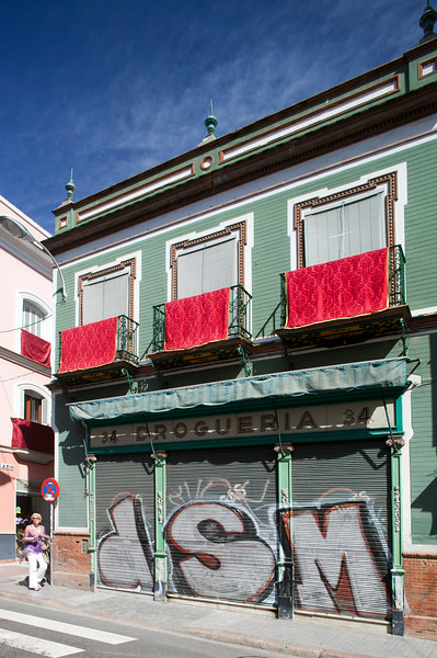 Traditional building on downtown Seville, Spain