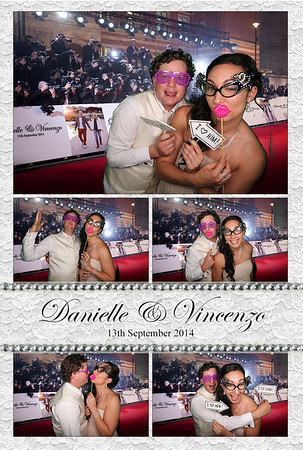 Danielle & Vincenzo Scordio Photobooth Prints