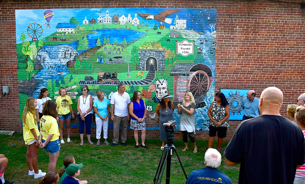 8/6/2019 Mike Orazzi | Staff Tuesday morning's mural dedication in Plymouth.