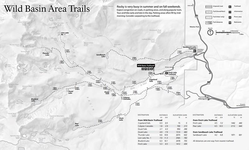 Rocky Mountain National Park (Trails - Wild Basin Area - Summer)