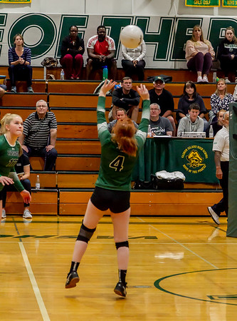 Game two, Set six: Vashon Island High School Varsity Volleyball v Annie Wright 09/26/2018