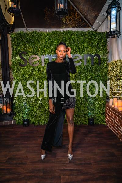 Aminata Niaria in SemSem2, SemSem Popup at Cafe Milano, November 15, 2019, photo by Elyse Cosgrove.jpg