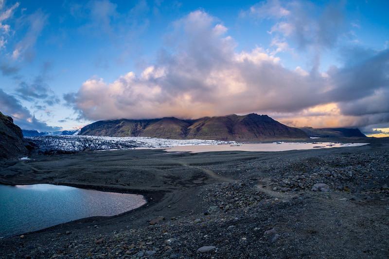 Skaftafell glacier at Vatnajökull National Park