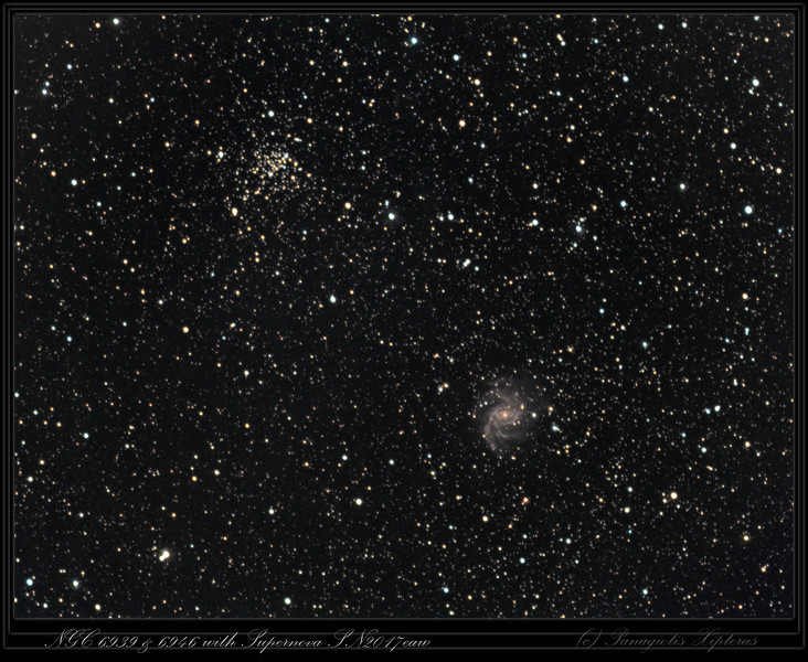 NGC6939 and NGC6946 in Cepheus